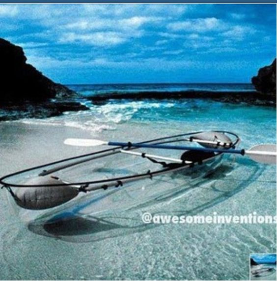 Clear boat! I'd be scared to ride them....