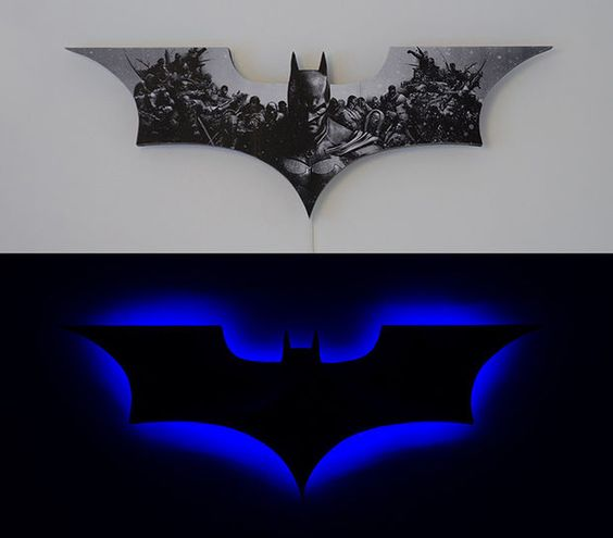 Batman, Batman lamp and Step by step instructions on Pinterest