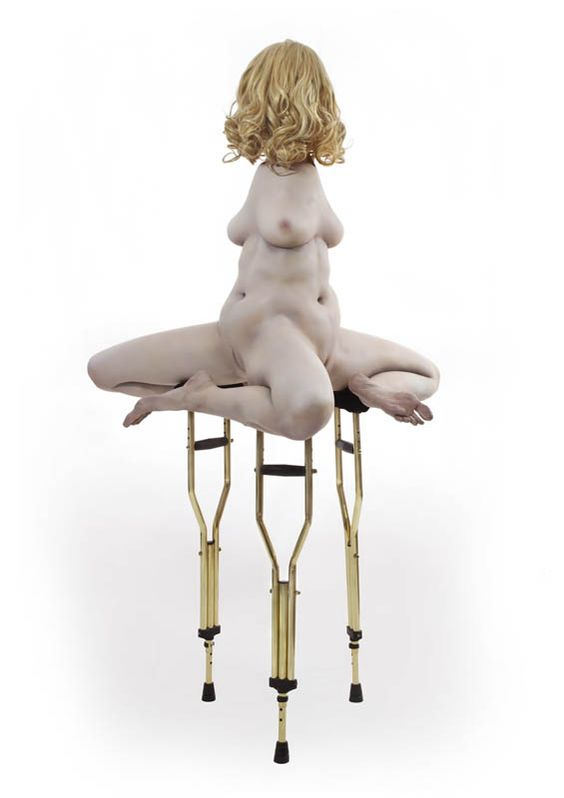 Dance Of The Disfigured: Monica Piloni's Resin Sculptures Are Disturbingly Elegant: