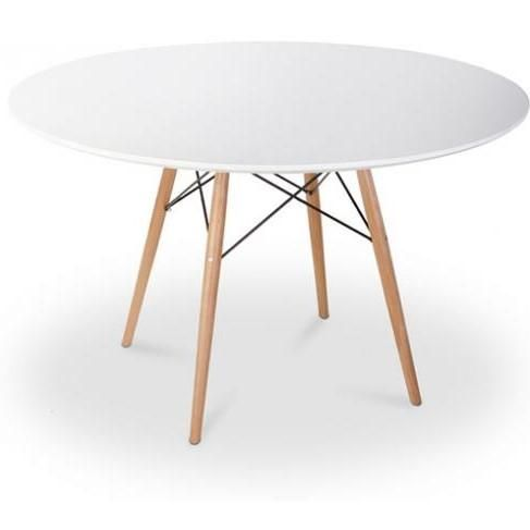 table ronde scandinave blanc et pieds