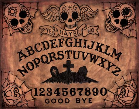 Ouija Board loose canvas art prints by ShayneoftheDead on Etsy