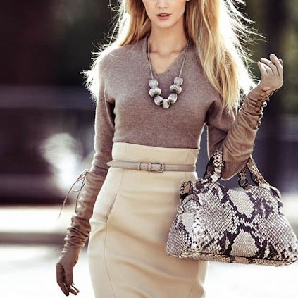 the skirt and those gloves are amazing for fall