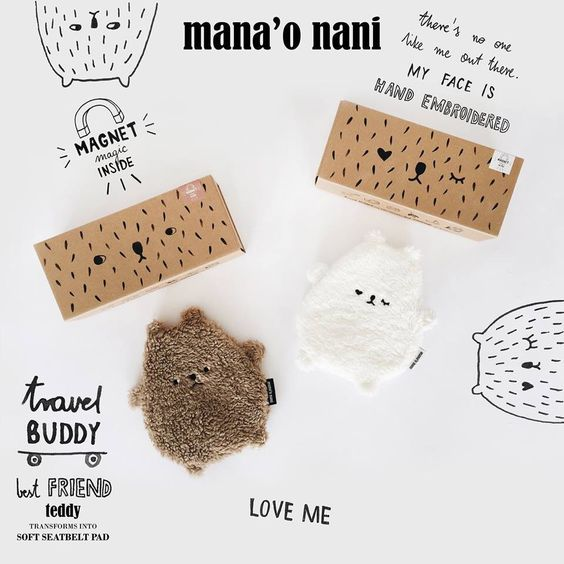Super Cute wannahave for baby! Mana'o Nani Travel Buddy. Get them here: http://littlewannahaves.nl/merken/mana-o-nani/