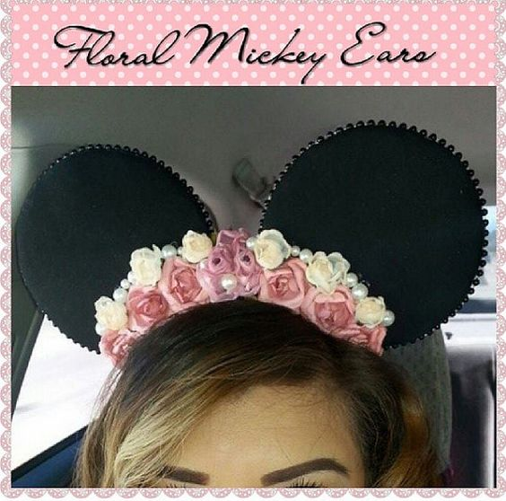 Floral Mickey Ears: