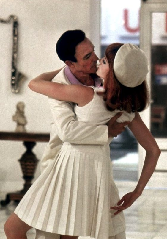 """Gene Kelly and Françoise Dorleac in """"Les Demoiselles de Rochefort"""" directed by Jacques Demy, 1967"""