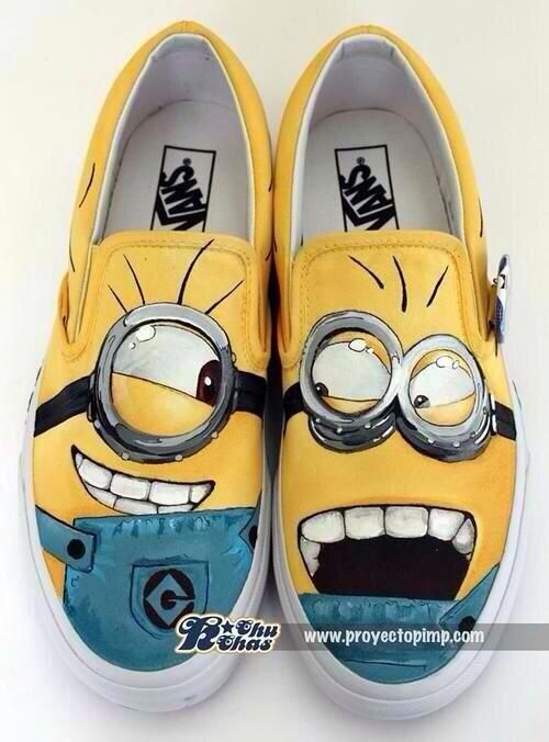 I WANT MINION VANS!!!! but with lace up white vans... And the minions on the side