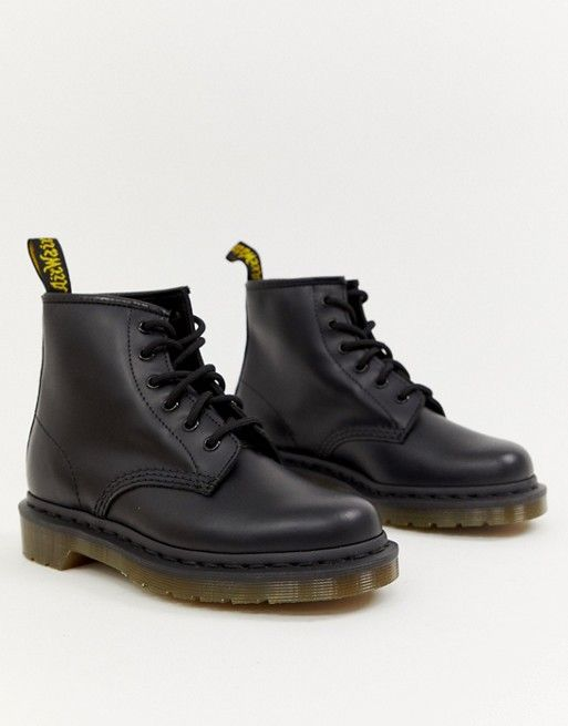 authorized site latest offer discounts Dr Martens 101 6 eye leather boots in black | Boots, Leather ...