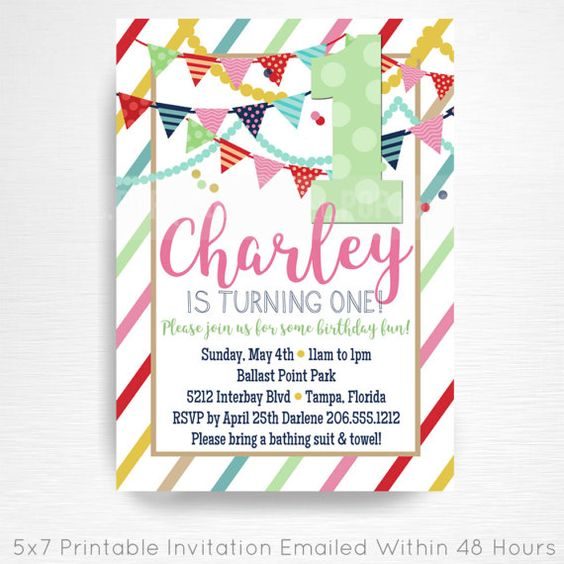 Girl first birthday invite 1st birthday printable invitation, mint pink and gold glitter confetti Invite YOU Print  **** CAN BE DONE FOR ANY AGE!  This is an emailed file, nothing will be shipped to you. Please include your childs name, age and party details in the notes to seller section at checkout.  We will email your high-resolution, print-ready file within 48 hours of receiving your party details and photo (if photo invitation has been purchased please email your photo to amy [at]…