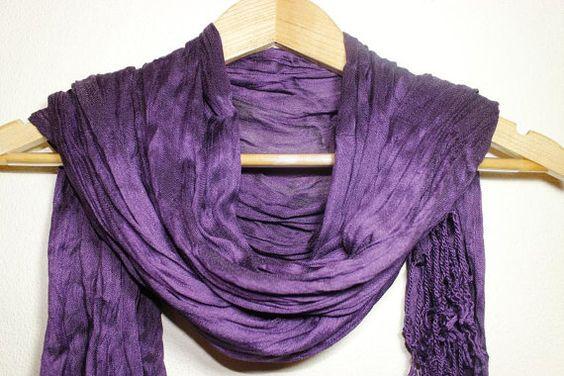 Silky Purple Scarf Turban Turband Hair Wrap by SULTANSACCESSORIES, $7.50