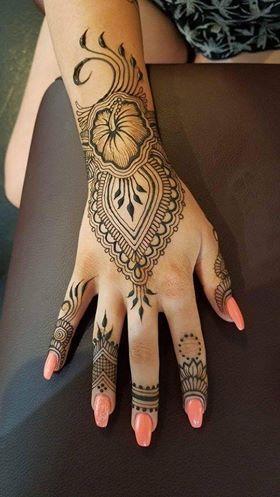 North Indian Style Mehndi Henna Patterns Designs Henna Patterns Hand Tattoos For Girls Henna Tattoo Designs