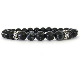 Men's Bracelet Men's Jewelry Gemstone by RockAndHardware on Etsy