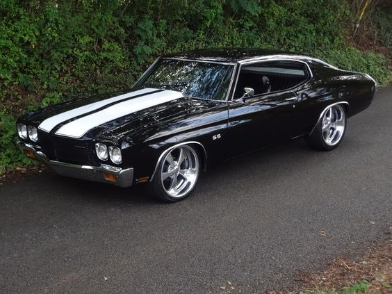 70 Chevelle SS in Tuxedo Black - wonderful - swisshalley.com/...