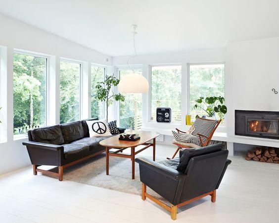 ... stilmöte – 60-tal utanpå och svartvitt 50-tal inuti - Sköna hem
