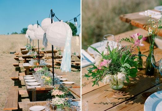An utterly dreamy, field wedding with camping and natural flowers