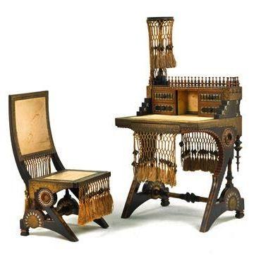 CARLO BUGATTI Desk and Chair, c. 1900  |  SOLD 37,500 EUR, Nov. 2014, Germany