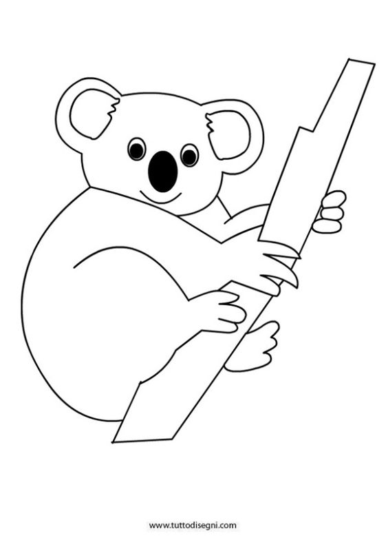 k is for koala bear coloring pages - photo #50