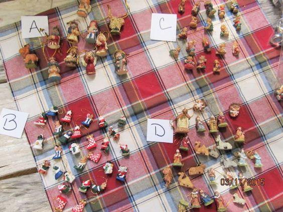 Miniature Christmas Tree Ornaments Dollhouse Doll House Resin Nativity Teddy Bears Stockings   CB-155 by EvenTheKitchenSinkOH on Etsy
