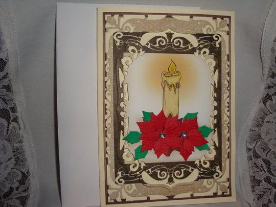 Beautiful Christmas Card Xmas card Holiday card by CardsbyEileen