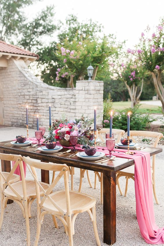Bohemian Elegance Meets Fig and Flora #eventdesign #weddingtable #fallwedding