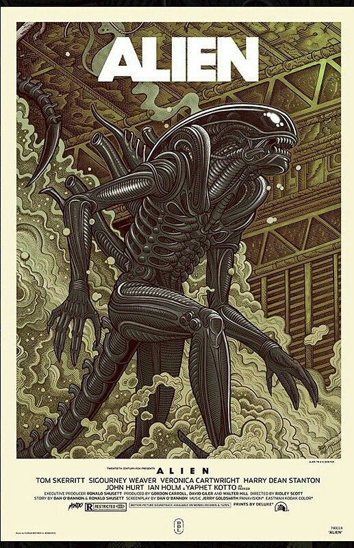2019 New Sci-fi Show Horror Nerdy Posters TV Movie kraft paper Prints Art For