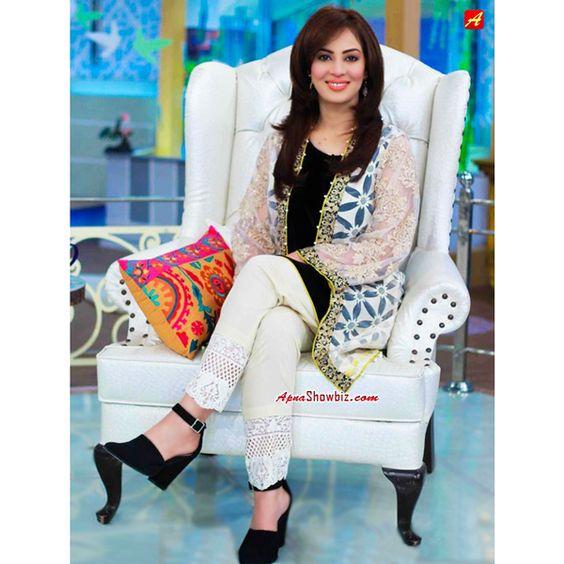 Farah Today At Her Morning Show Pakistan Morningshow Fashion Farah Aplustv Womensfashion
