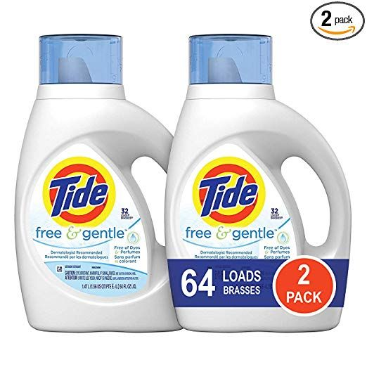 Tide Free And Gentle He Liquid Laundry Detergent 2 Pack Of 50 Oz