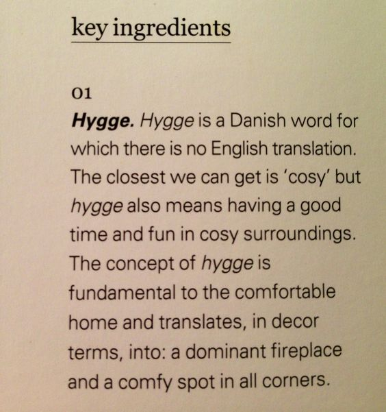 More #Hygge One of my favorite words of all time!