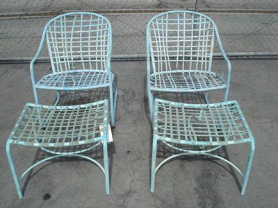pale blue deck chairs
