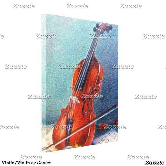 Violín/Violin Impresión En Lona Estirada