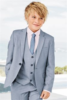 Next Blue Chambray Suit: Jacket (12mths-16yrs) £40 | Inspiration