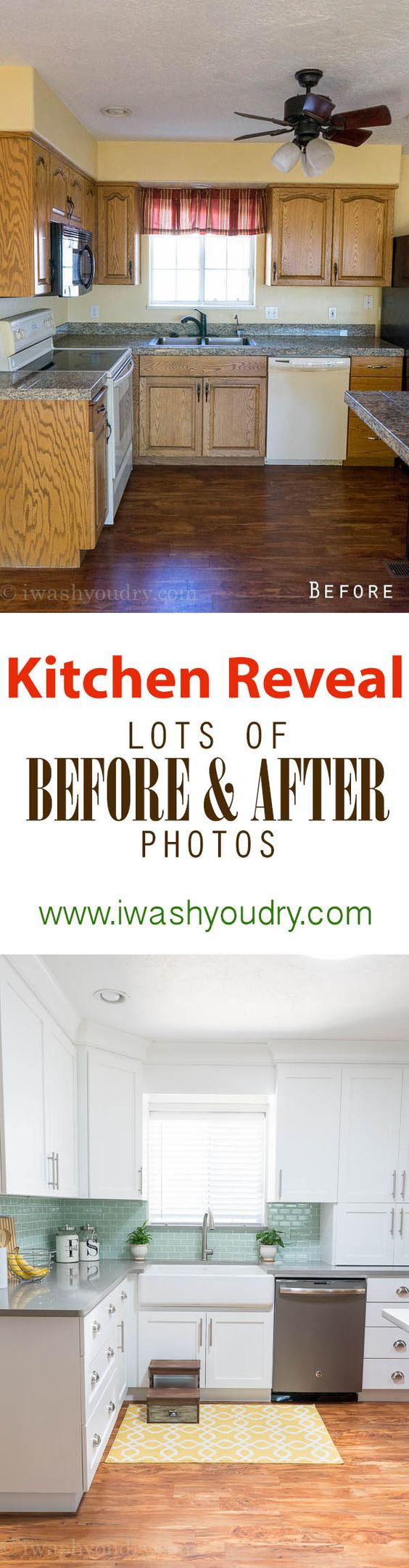 Kitchen Reveal {Before and After Photos}: