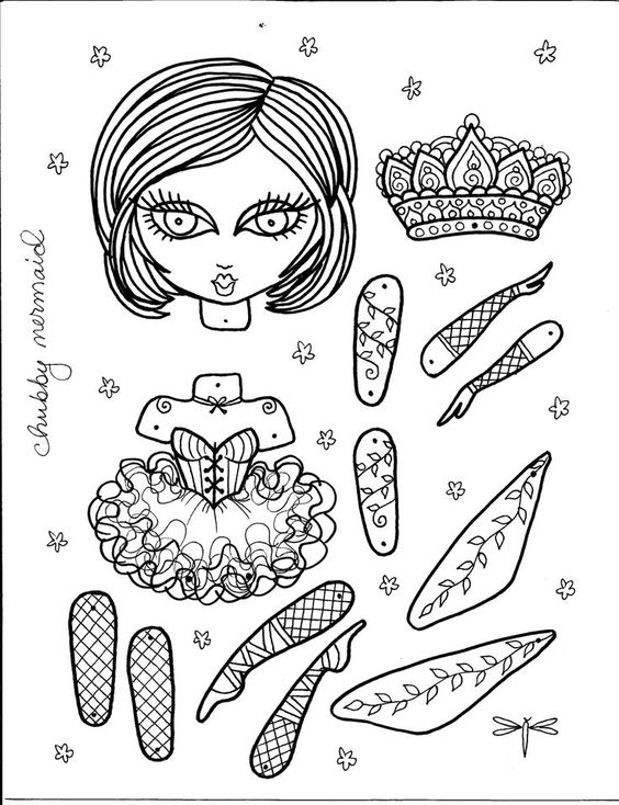 Ballerine Paper Doll Art que vous colorer 617