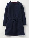 Navy Quilted Dress Mini Boden.
