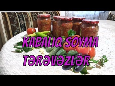 Kababliq Soyma Badimcan Bibər Pomidor Ikrasi Sobada Qis Təd Food Salsa Jar