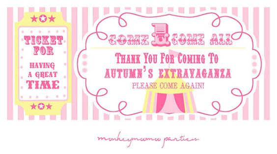 Pretty Pink Circus themed party :)  http://monkeymoomooparties.blogspot.com/2012/03/autumns-extravaganza-party.html