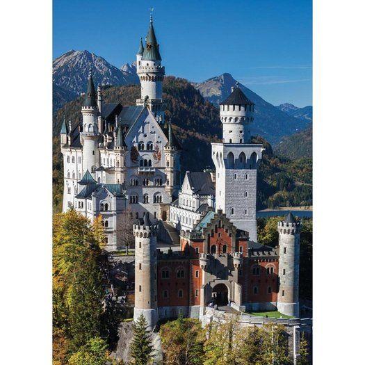 Jumbo Premium Quality Puzzel Schloss Neuschwanstein 1000 Stukjes In 2020 Muurstickers Peuterbed