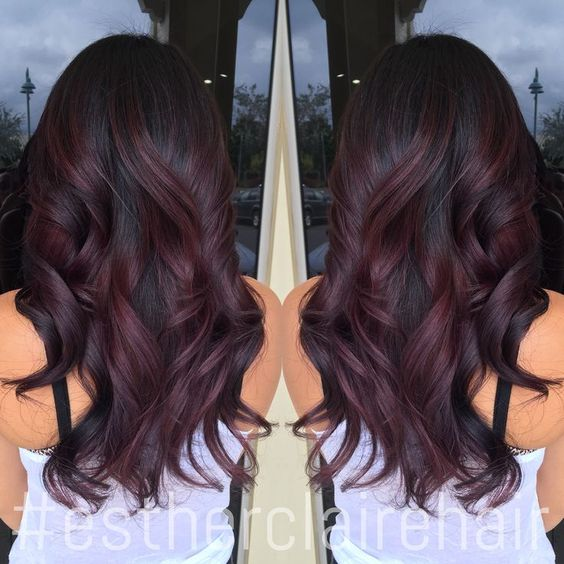 burgundy balayage ombre - Google Search