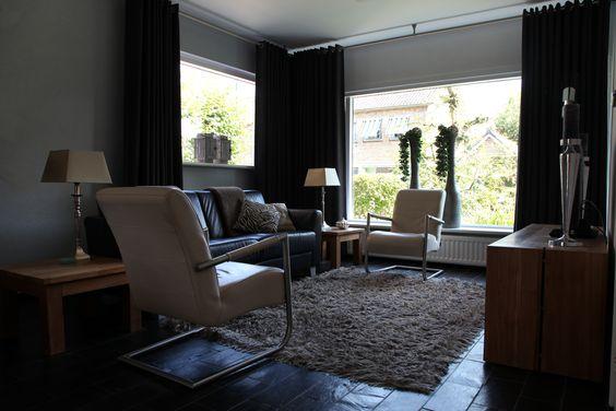 Eengezinswoning Prinsenbeek. Inrichting woonkamer in strak ...