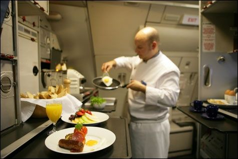 18. Get Upgraded To First Class:  Better than Peanuts?! Worth the effort for a shot at this kind of plane food, right? Click on to see 1960s plane food…