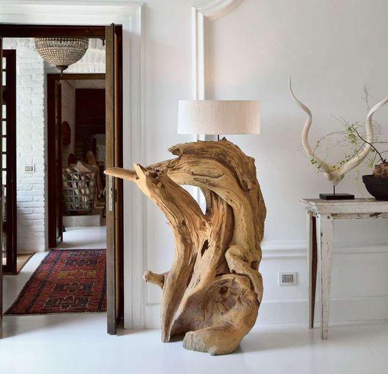 Lampade con tronchi di legno cerca con google wood for Lampade con legno