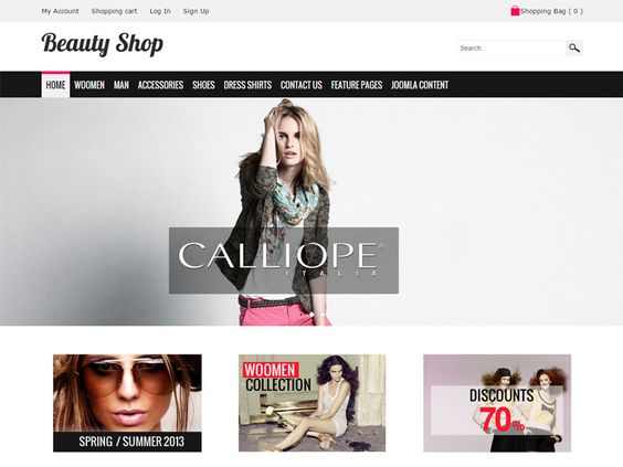 Beauty Shop Responsive Joomla Fashion Store Template is fully responsive template, that adapts to the screen resolution of all devices – smartphones, tablets and desktops. This Joomla template was designed especially for clothes online shop, fashion store but you can use OS Beauty Shop Joomla template for any other type of stores.