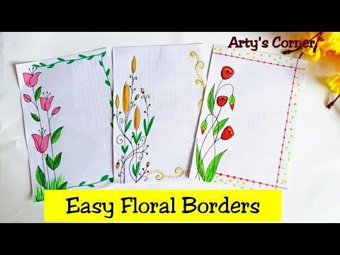 Floral Design On Paper Borde Design On Paper Project Design