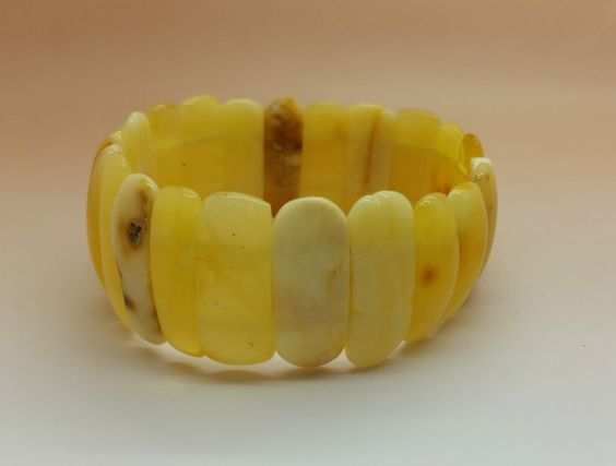 18 grams Genuine Natural Baltic Amber Butterscotch Bracelet, No Enhancement