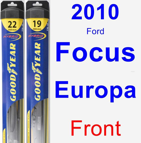 Front Wiper Blade Pack for 2010 Ford Focus Europa - Hybrid