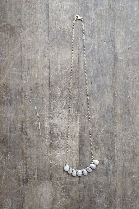 Grey Sapphire Necklace Grey Sapphire Briolettes by AmuletteJewelry