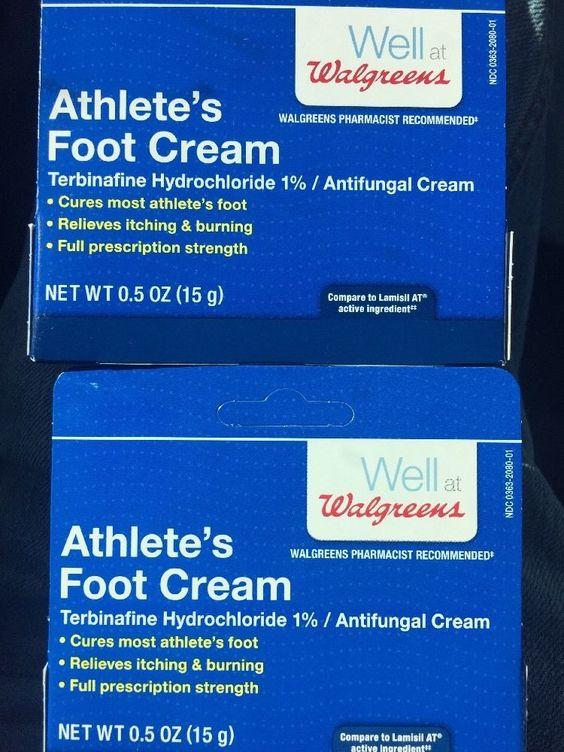 Walgreens Athlete's Foot Antifungal Cream 5 oz New Lot of 2 | eBay