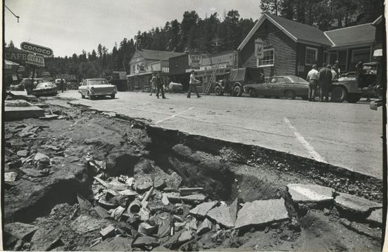 The Keystone business area was battered after the flood that swept through a number of communities south of Rapid City.