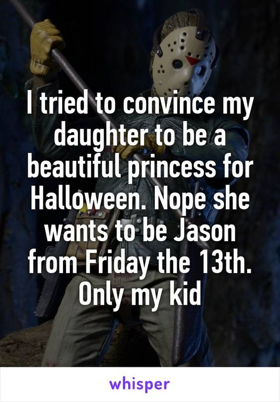 I tried to convince my daughter to be a beautiful princess for Halloween. Nope…