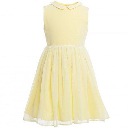 Marie-Chantal - Yellow Sleeveless Silk Dress | Childrensalon