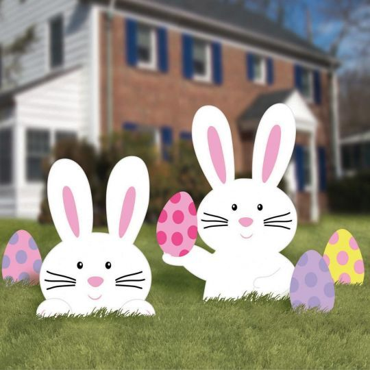 Easter Bunny Lawn Decorations In 2020 Easter Yard Decorations Easter Decorations Outdoor Easter Yard Art